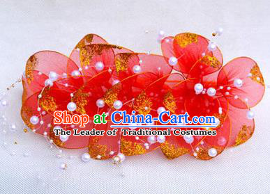 Traditional Asian Thai Jewelry Hair Accessories, Traditional Thai Headwear Plumeria Flowers Hairpins for Women