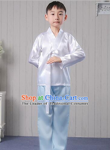 Korean Traditional Dress For Boys Stage Show Costumes for Children Full Dress