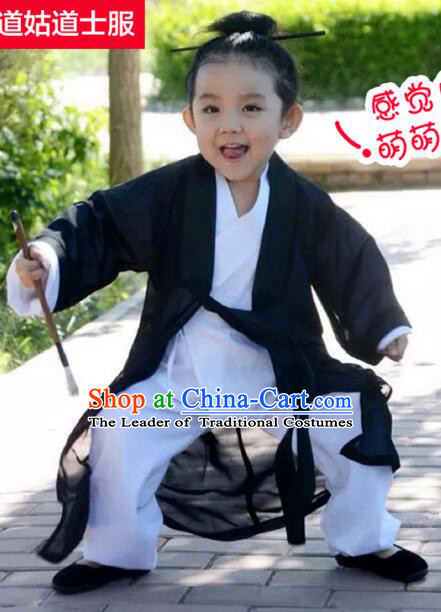 Wudang Mountain Taoist Clothes Robe for Kids Stage Show Costume