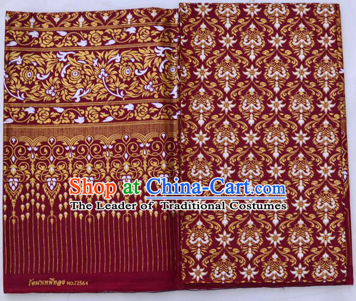Traditional Asian Thai Sarees and Dress Gilded Material, Thai Gilded Clothes and Fabrics for Women