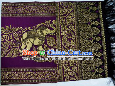 Traditional Asian Thai Palace decoration Ornaments Silk Table Cloth, Thai High Grade Silk Table Flag Table Cover