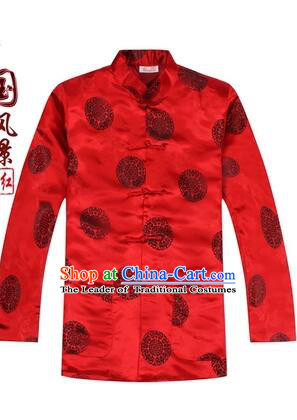 Tang Suit for Men Coat Long Sleeves Chinese Style Dress Traditional