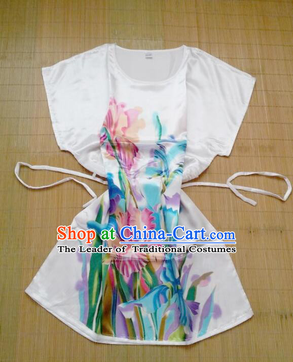 Night Gown Women Sexy Skirt Ancient China Style Chinese Traditional Chinese Night Suit Nighty Bedgown Colorful Flowers