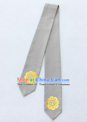 Korean Hair Band for Women Hair Strap Ties Headwrap Kerean Traditional Hot Stamping Bronzing Gray