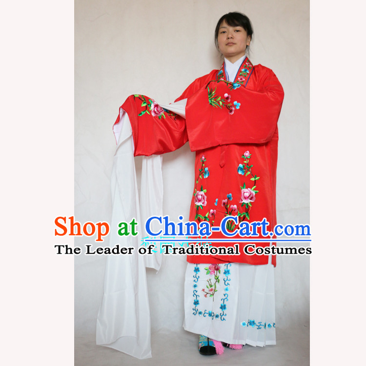 Ancient Peking Opera Costume Drama Women Wearing Yueju Opera Drama Miss Dance Costumes Huadan Long Sleeve Costumes For Women