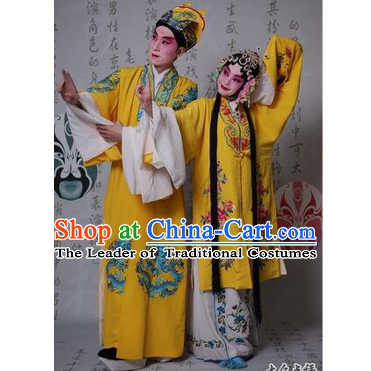 Acient Costumes Henan Opera Emperor Costume Queen Costume Undercover Golden Dress Dragon And Phoenix Clothing Set