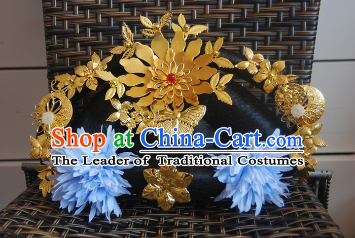 Chinese Ancient Style Imperial Queen, Tang Dynasty Wu Zetian Meiniang Hair Jewelry Accessories, Hairpins, Headwear, Headdress, Hair Fascinators for Women
