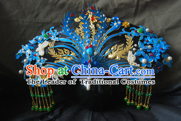 Chinese Ancient Style Hair Jewelry, Qing Dynasty Imperial Empress Handmade Phoenix Wig and Hair Accessories, Zhenhuan Hairpins, Huafei Headwear, Headdress, Hair Fascinators for Women