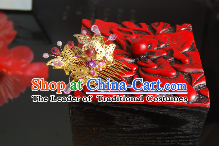 Chinese Ancient Style Hair Jewelry Accessories, Hairpins, Wedding Headwear, Headdress, Hair Fascinators for Women