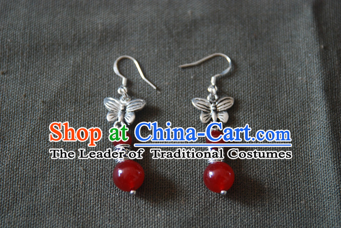 Chinese Ancient Style Hanfu Bride Earrings for Women