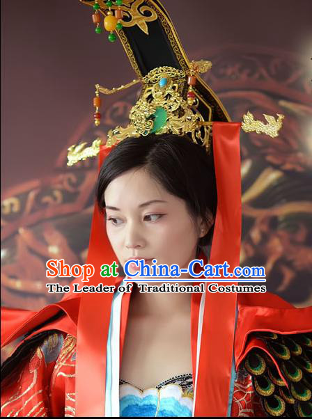 Chinese Ancient Style Hair Jewelry Accessories, Hairpins, Headwear, Headdress, Hanfu Queen Hair Fascinators for Women