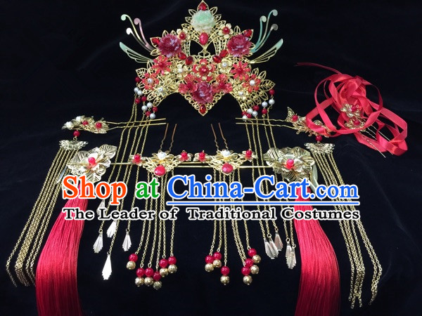 Chinese Traditional Accessories, Chinese Ancient Style Imperial Hair Jewelry Accessories, Hairpins, Headwear, Headdress, Hair Fascinators Set for Women