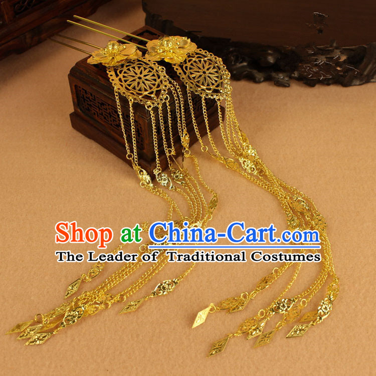 Chinese Ancient Style Hair Jewelry Accessories, Hairpins, Hanfu Xiuhe Suits Wedding Bride Headwear, Hair Fascinators for Women