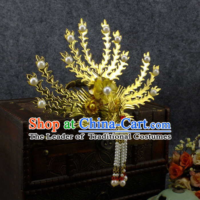 Chinese Ancient Style Imperial Queen Hair Jewelry Accessories, Hairpins Headwear, Headdress, Hair Fascinators for Women
