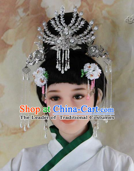 Chinese Ancient Style Hair Jewelry Accessories, Hairpins, Headwear, Headdress, Cosplay Queen Princess Hair Fascinators for Women