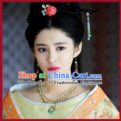 Chinese Ancient Style Hair Jewelry Accessories, Hairpins, Wedding Bride Imperial Empress Handmade Princess Headwear, Headdress Set for Women
