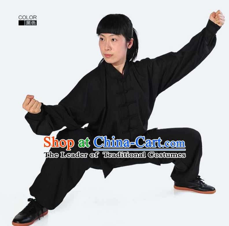 Top Kung Fu Flax Costume Jacket Uniform Martial Arts Clothes Shaolin Uniform Kungfu Uniforms Supplies for Men Women Adults Kids