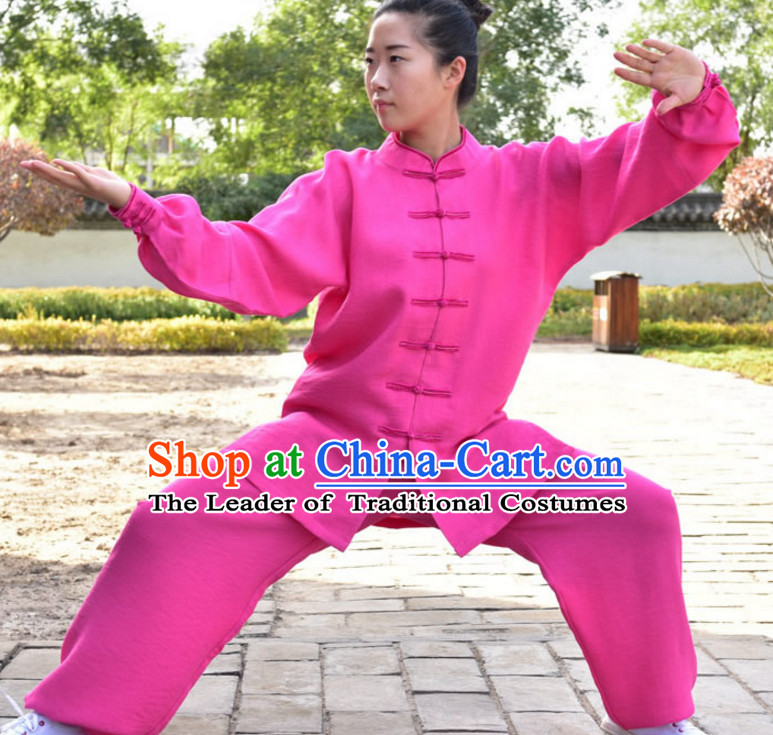 Top Kung Fu Flax Clothing Mandarin Costume Jacket Martial Arts Clothes Shaolin Uniform Kungfu Uniforms Supplies for Men Women Adults Children