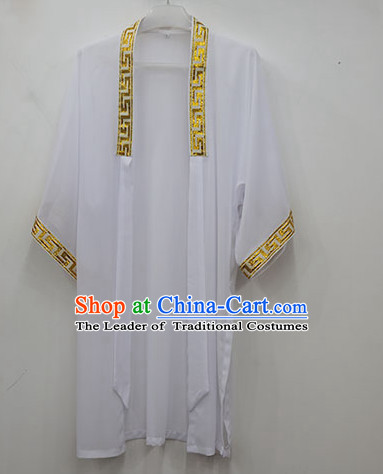 White Wudang Uniform Taoist Uniform Kungfu Kung Fu Clothing Clothes Pants Shirt Supplies Wu Gong Outfits Mantle Cape