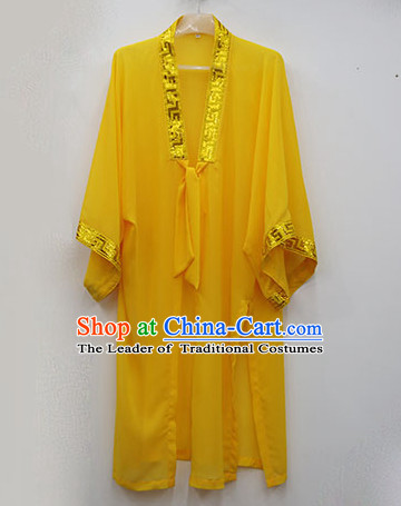 Yellow Wudang Uniform Taoist Uniform Kungfu Kung Fu Clothing Clothes Pants Shirt Supplies Wu Gong Outfits Mantle Cape