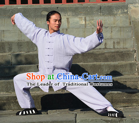 White Wudang Uniform Taoist Uniform Kungfu Kung Fu Clothing Clothes Pants Shirt Supplies Wu Gong Outfits
