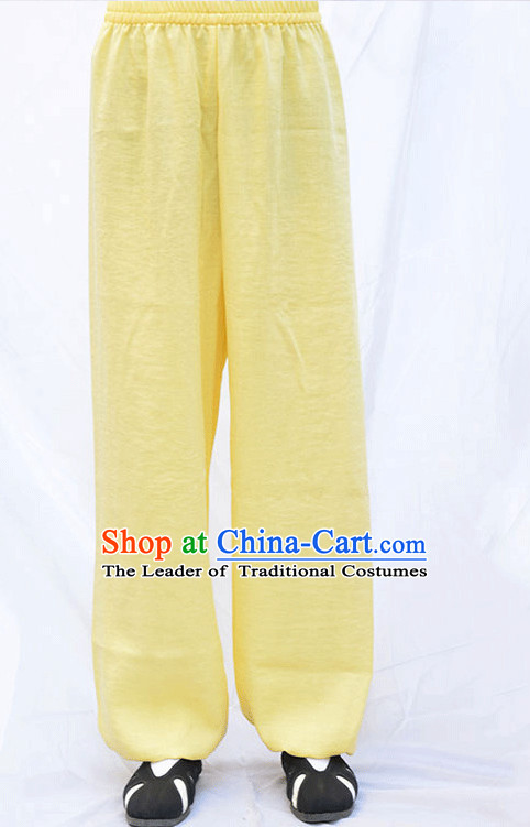 Wudang Uniform Taoist Uniform Kungfu Kung Fu Clothing Clothes Pants Shirt Supplies Wu Gong Outfits Flax Pants