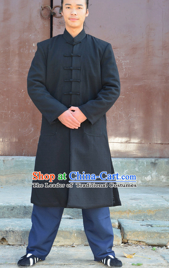 Wudang Uniform Taoist Uniform Kungfu Kung Fu Clothing Clothes Pants Shirt Supplies Wu Gong Flax Long Jacket Outfits