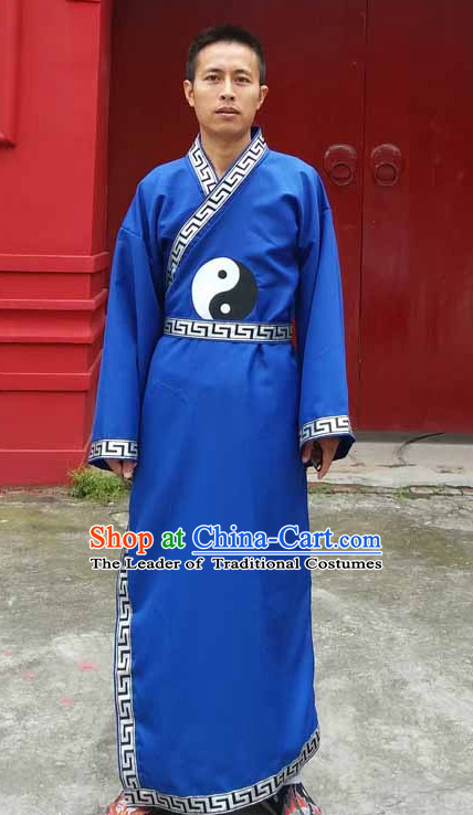 Wudang Uniform Taoist Uniform Kungfu Kung Fu Clothing Clothes Pants Shirt Supplies Wu Gong Outfits for Men Women Adults Kids
