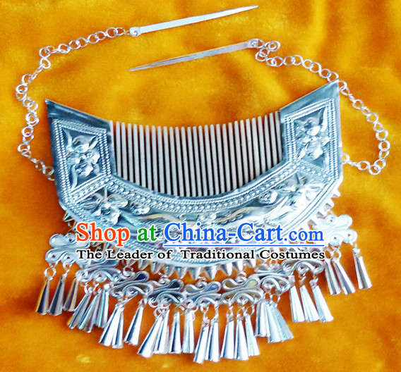 Chinese Princess Miao Tribe Silver Necklace