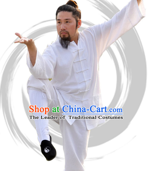 Top Tai Chi Uniforms Taoist Uniform for Men Women Adults Kids