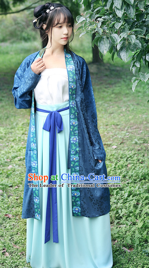 Han Chinese Clothing and Headpieces Complete Set for Women
