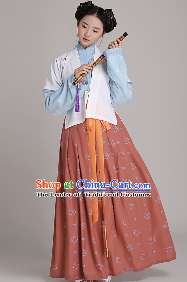 Chinese National Costumes Clothing and Headwear Complete Set for Women