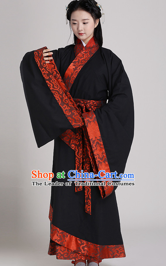 Chinese Style Dresses Kimono Dress Han Dynasty Outfit Complete Set for Men and Women