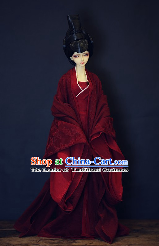 Ancient Chinese Princess Wedding Dress Hanfu Garment BJD Costumes for Men Boys Adults Kids