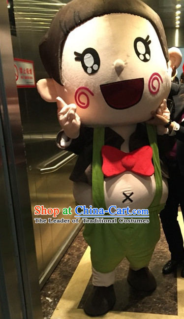 Professional Custom Made Mascot Costume Customized Mascots Costumes Happy Boy Mascot Costumes
