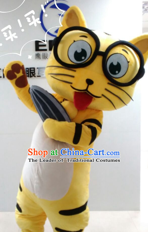 Free Design Professional Custom Made Mascot Costume Customized Mascots Costumes Happy Tiger Mascot Costumes