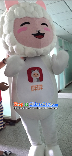 Free Design Professional Custom TV Commerical Mascot Costume Mascot Outfits Customized Cute Happy Sheep Mascots Costumes