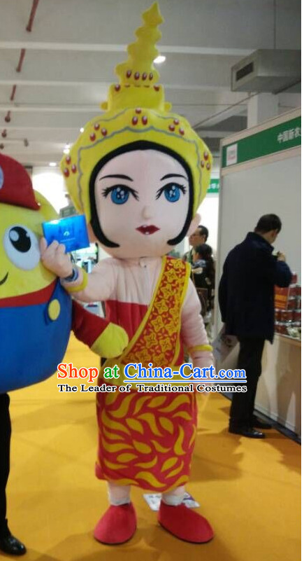 Free Design Professional Custom Mascot Uniforms Mascot Outfits Customized Commerical Thailand Princess Mascots Costumes