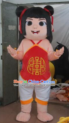 Professional Custom Mascot Uniforms Mascot Outfits Customized Cartoon Character Ne Zha Chinese Doll Mascot Costumes