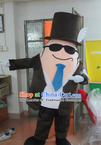 Professional Custom Made Mascot Uniforms Mascot Outfits Customized Walking Gentlemen Mascot Costumes