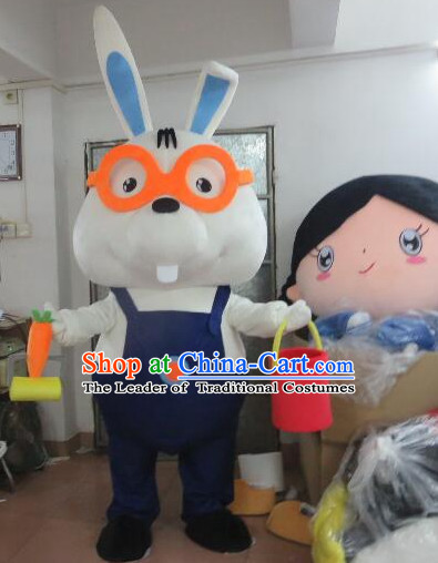 Professional Custom Mascot Uniforms Mascot Outfits Customized Animal Cartoon Character Rabbit Mascot Costumes