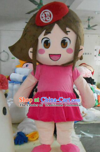 Professional Custom Mascot Uniforms Mascot Outfits Customized Walking Girl Mascot Costumes