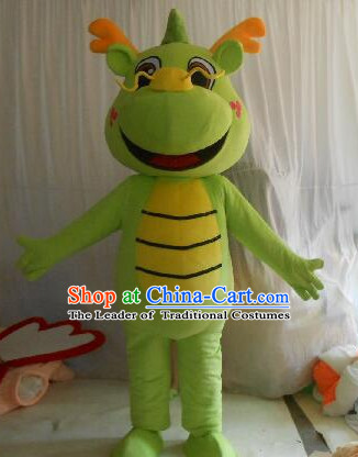 Professional Custom Mascot Uniforms Mascot Outfits Customized Cartoon Character Walking Dragon Mascot Costumes