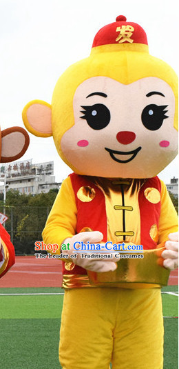 Mascot Uniforms Mascot Outfits Customized Walking Mascot Costumes Animal Monkey Cai Shen Money God Mascots Costume