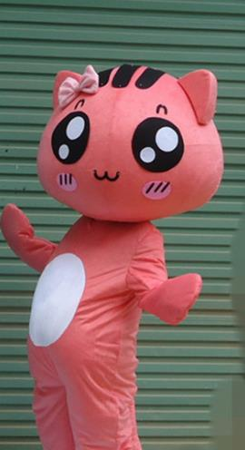 Mascot Uniforms Mascot Outfits Customized Walking Mascot Costumes Cartoon Character Cat Mascots Costume