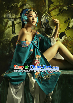 Chinese Classical Long Sleeves Water Sleeve Dance Costumes Complete Set for Women