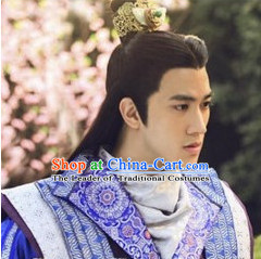 Ancient Chinese Style Prince Emperor Coronet for Men Boys Adults Children