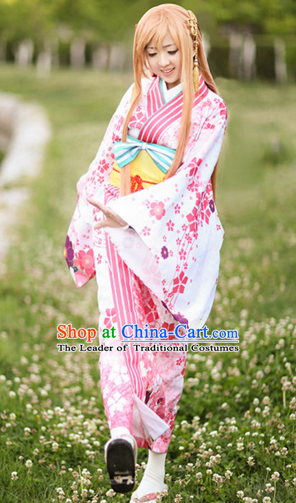 Ancient Japanese Princess Kimono Clothes Complete Set for Women