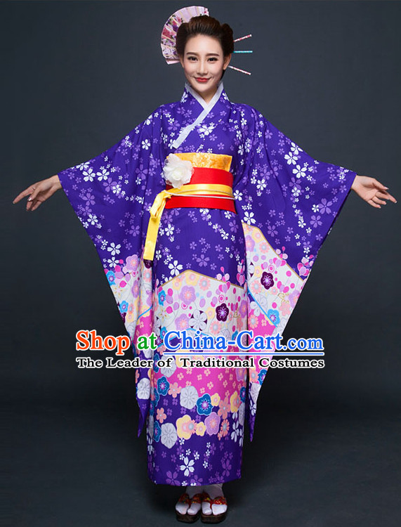 Japanese Traditional Kimono Outfits Complete Set for Women Girls Adults