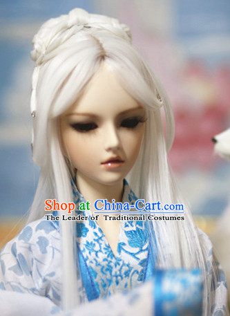 Ancient Chinese White Long Hair Wigs for Women
